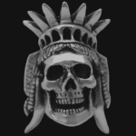 liberty skull ring