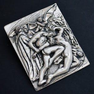 dante and virgil in hell bespoke pendant