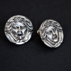 bespoke medusa earrings